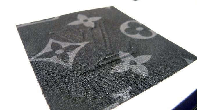 Gaufrage sur tissu