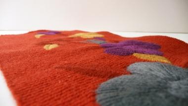 Broderie en fil de laine