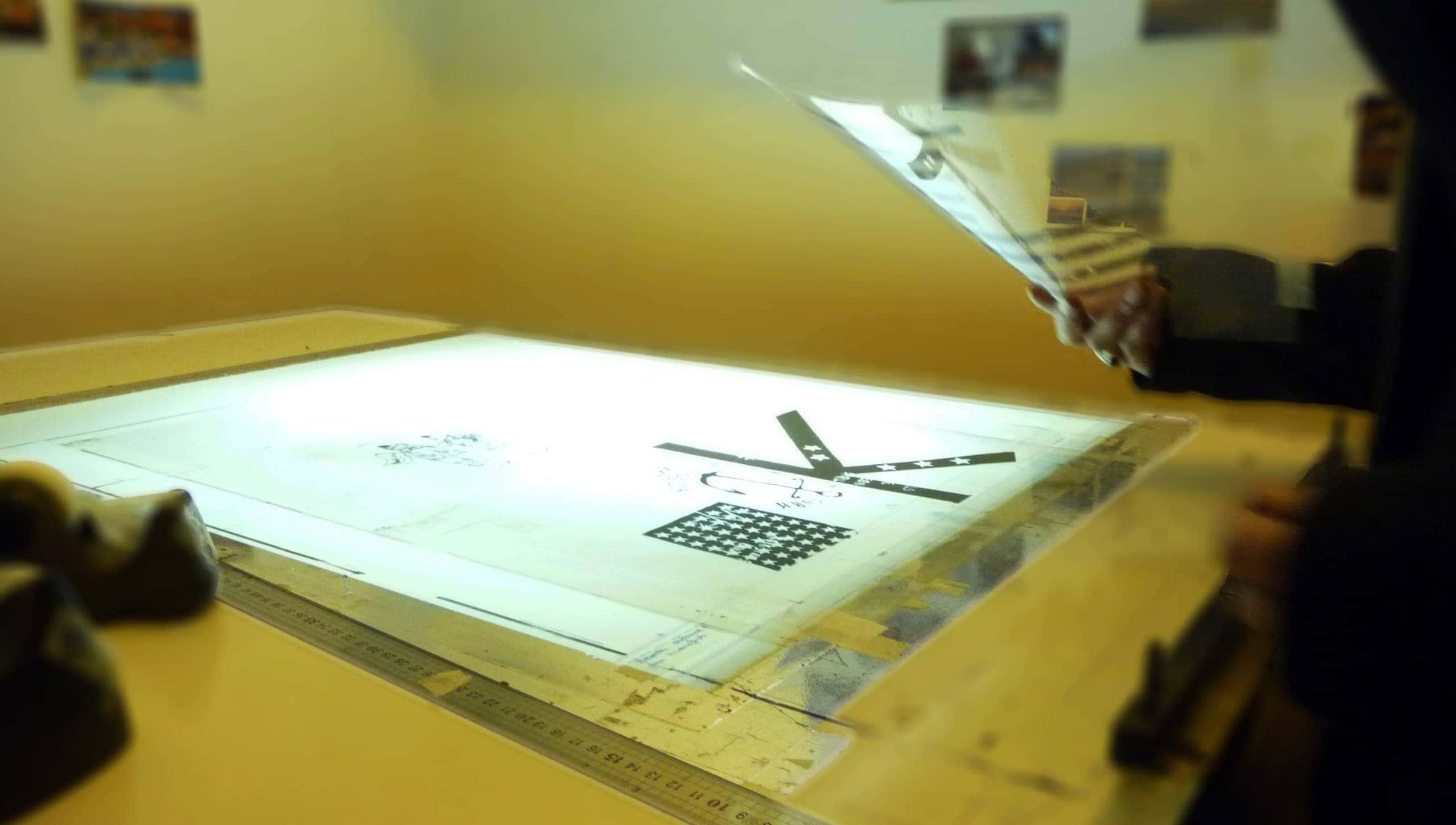 Fabrication des cadres de sérigraphie